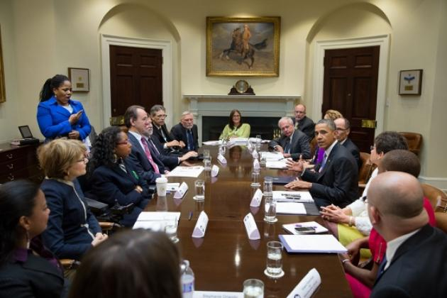 Dr. Anjali Forber-Pratt at Roundtable Discussion with President Barack Obama